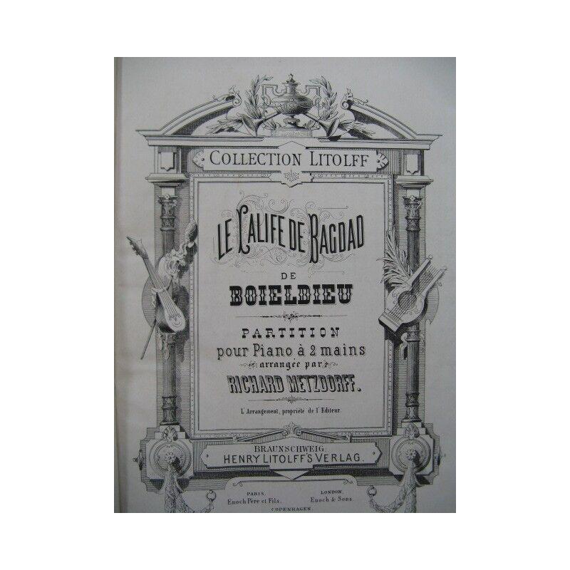 BOIELDIEU Adrien der Kalif von Bagdad Opera Piano solo 19 Partitur sheet music