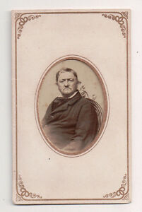 Vintage-CDV-German-Man-Inscribed-on-Back-October-1868-Framed