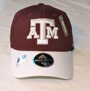 1d8387c6e9b65 NCAA Men's ADIDAS Texas A&M Aggies Sideline Flex Hat L/XL NEW   eBay