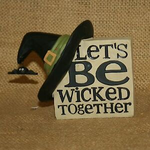 Witch-Hat-Sign-Lets-Be-Wicked-Together-Halloween-Resin-Figurine-Blossom-Bucket