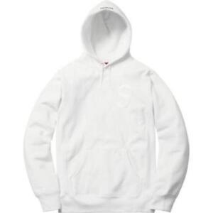 a046da23ec57 Brand New Supreme Tonal S Logo Hooded Sweatshirt Hoodie White FW17 ...