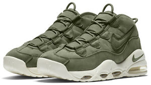 new mens nike air max uptempo size 12 urban haze 311090 301 pippen olive white