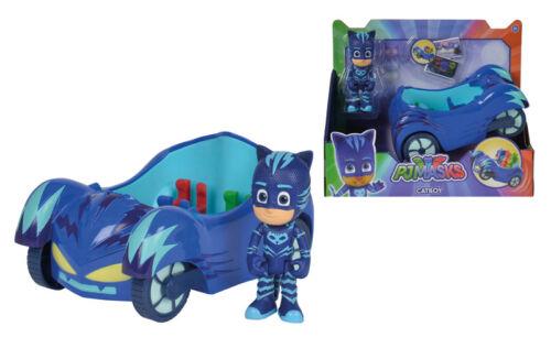 Simba PJ Masks Cat boy avec des chats Speeder bleu