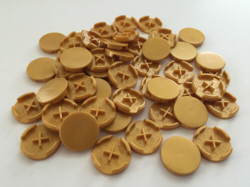 *BRAND NEW* 50 Pieces Lego PEARL GOLD 2x2 Round Tile *BULK* 4150