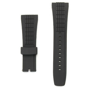 20-26mm-Silicone-Black-Watch-Band-Strap-For-Seko-Velatura-Watch-Replaceable
