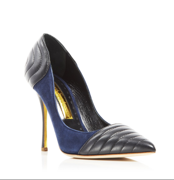 795 size 36.5 US 6 Rupert Sanderson Lillian bluee Leather Pump Dress shoes