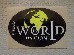 * * * * * DJ BOBO - world in motion * * * * * Aufkleber