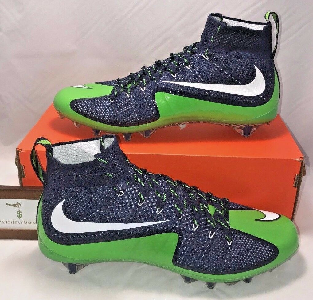 Nike Mens Size 15 Vapor Untouchable 1 Td Football Cleats Seattle Seahawks Rare