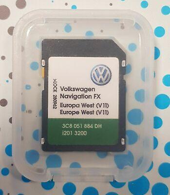 neuester vw rns 310 west europa v11 navigationskarte sd karte rns310 2019 ebay. Black Bedroom Furniture Sets. Home Design Ideas