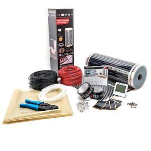1.5m sq, Digital Thermostat Electric Under Laminate//Wood Foil Underfloor Heating Mat Kit