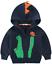 thumbnail 1 - LitBud Kids Boys Hoodies for Toddler Cartoon Dinosaur Crocodile Zipper Packaway