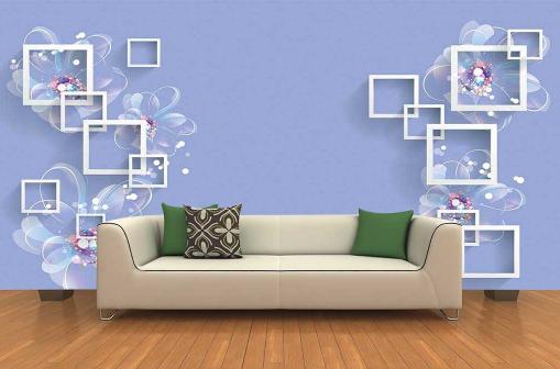 3D Art Transparent Flowers9 Wallpaper Mural Paper Wall Print Wallpaper Murals UK