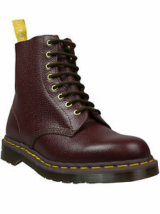 Dr-Martens-Docs-Boot-8-loch-Red-Pebble-1460-DM50-Made-in-England-Limited-5017