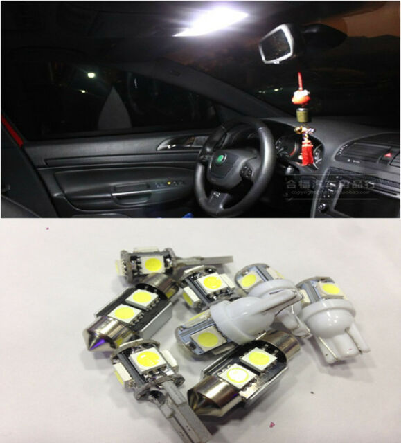 Full White 6 Lights SMD LED Interior Package Kit for Mazda3 Mazda 3 2010-2011