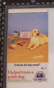 VINTAGE-ROYAL-GUIDE-DOG-ASSOCIATION-AUSTRALIA-KLEENEX-ADVERTISING-PROMO-STICKER