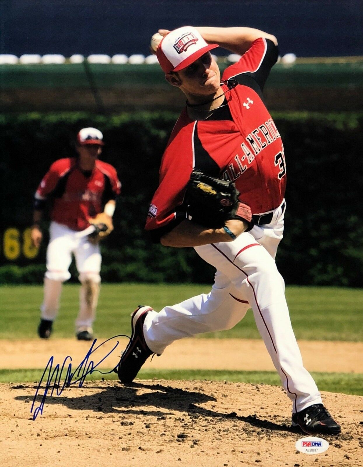 Tyler Matzek Signed Baseball 11x14 Photo *All American *Rockies PSA AE20817