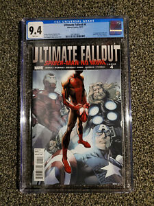 Ultimate Fallout 4 (2011) Marvel, 1st Miles Morales, 1st print CGC 9.4 New case!