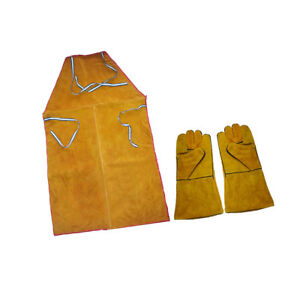 1-Pair-of-Cowhide-Welding-Protective-Gloves-Work-Safety-amp-Welding-Apron
