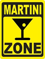 Martini Zone Sign. Size Options. Bar Pub Cocktail Happy Hour Drinks Martinis
