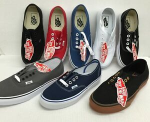 6b3979f0a9a2 Image is loading Vans-Authentic-Classic-Canvas-Shoes-Men-Women