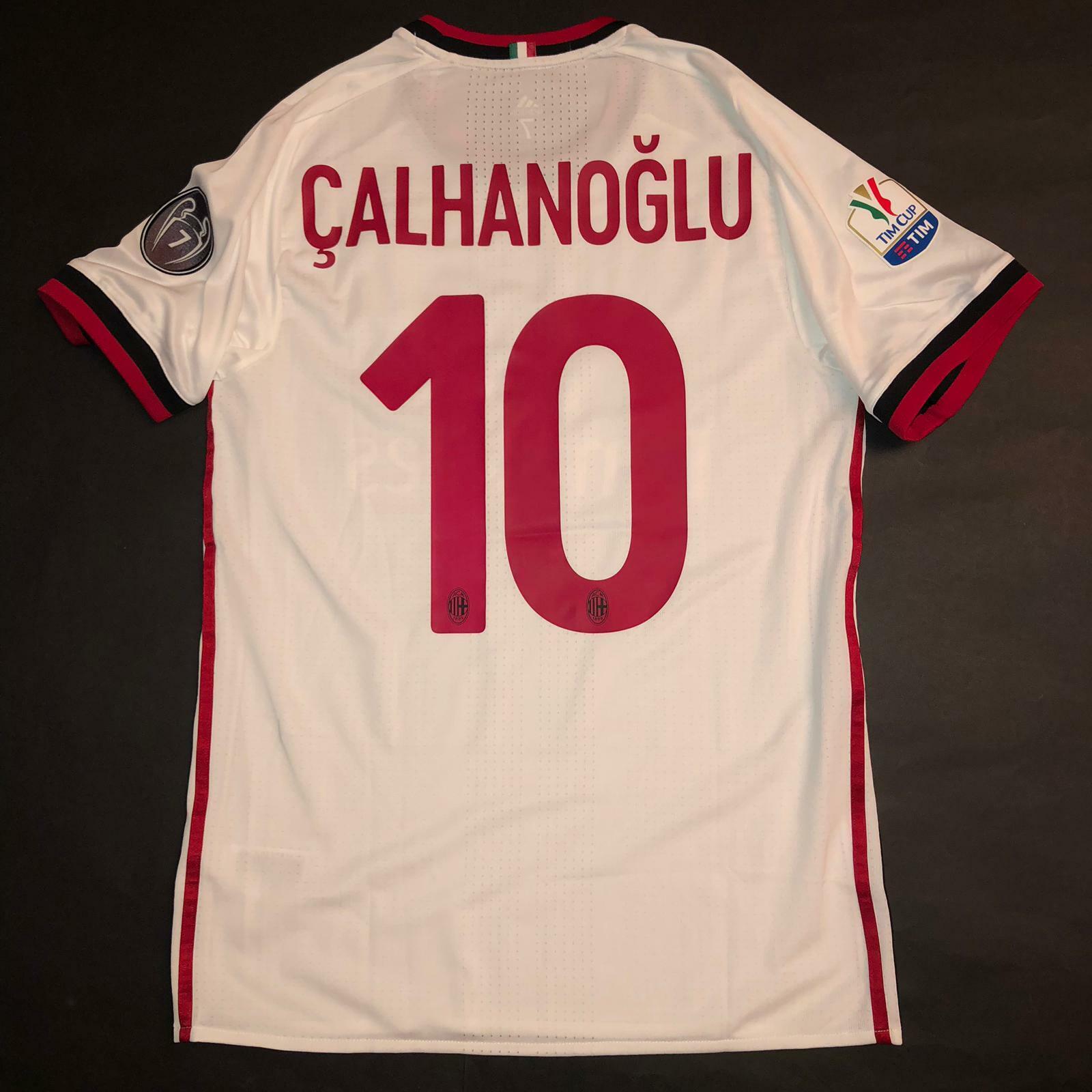 CALHANOGLU AWAY MILAN MATCH ISSUED PLAYER SHIRT 20172018 TIM CUP