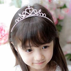 KIDS Girl Rhinestone Tiara Hair Band Bridal Wedding Princess Prom Crown Hairband