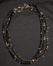 SILPADA - N1094 - Sterling Silver Black Onyx Hematite Bead Necklace - RET