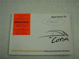 Opel-Corsa-C-Sport-GSI-Bordbuch-Bedienungsanleitung-Betriebsanleitung-2001