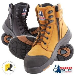 145a60900f1 Details about Steel Blue Torquay Zip Composite Safety Toe Boots Airport  Friendly 617539