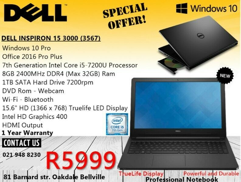 New Dell Inspiron 15 3567 - 15 6