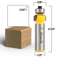 116 Radius Round Over Edge Forming Router Bit 12 Shank Yonico 13159