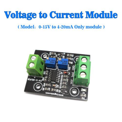 USA Voltage To Current Convertor 0-15V Convert 4-20mA Sensor Module Board