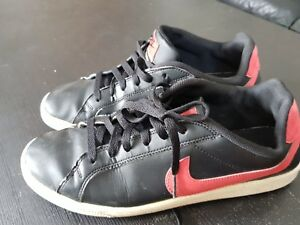 11e69dedead3 Nike Court Majestic Trainers Mens Black and Red Leather Size UK 8 ...
