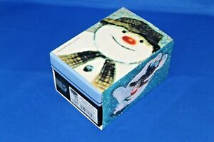 Crystal-Treasures-THE-SNOWMAN-PAPERWEIGHT-Dancing-in-Snow-Country-Artists-Boxed