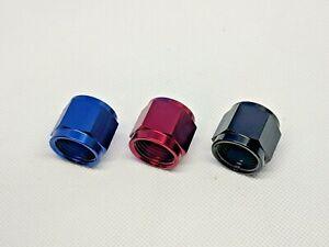 AN-Tube-Nut-Red-Blue-Black-Anodized-Aluminum-for-Tube-Sleeve-AN3-AN10