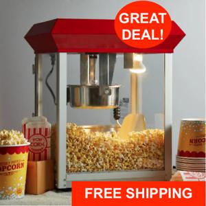 New-Carnival-King-Commercial-Popcorn-Maker-Machine-8-oz-Popper-Concession-Kettle
