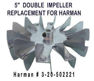 "PP7912 HARMAN PELLET EXHAUST BLOWER FAN IMPELLER BLADE  5/""  3-20-40985"
