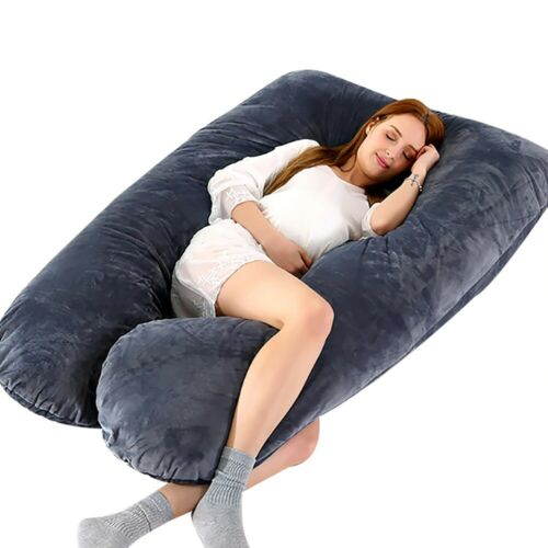 Pregnancy Pillow U-Shape Full Body Maternity Sleeper Bedding Support Cotton Pill