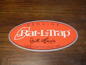 RAT-L-TRAP BILL LEWIS LURES FISHING LURE DECAL ( PUT ON BOATS RVs TRUCK )