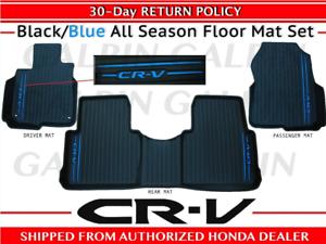 2017 2020 Oem Honda Cr V Black Blue All Season Floor Mat Set 08p17 Tla 121a Ebay