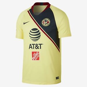 a3ad87efee6 Image is loading Nike-Club-America-Official-2018-2019-Home-Soccer-