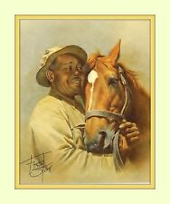 Fred Stone Man O'War Groom Will Harbut Fred Stone 11x14 Matted 8x10 Art Print