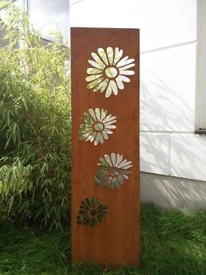 Edelrost Garten Sichtschutz Rost Sichtschutzwand Gartenzubehör Metall 125*35cm