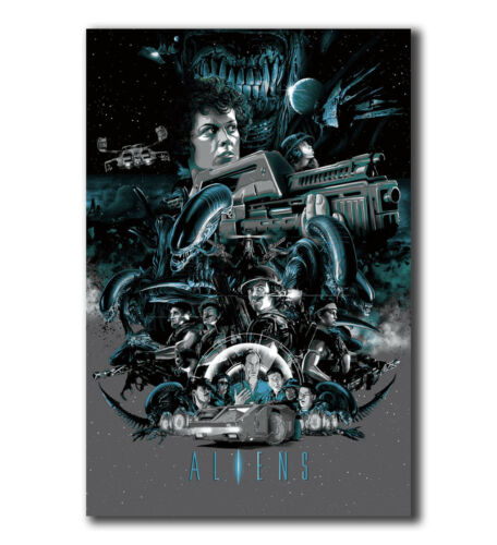 T-332 Art Poster Aliens Horror Classic Movie Hot Silk 24x36 27x40IN