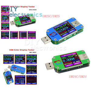 Techinal RD UM24C USB 2.0 Color LCD Tester Voltage Current Power Temp Meter YR