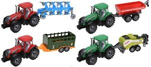 Friction-Powered-Tractors-lungo-Big-Pull-Tractor-Trailer-Bambini-Giocattoli