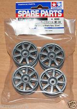 Tamiya 51334 M-Chassis Flat 8-Spoke Wheels 4 Pcs. (Silver) (M03/M04/M05/M06) NIP