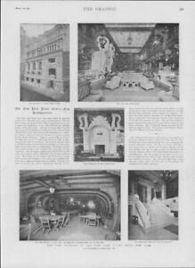 1901-Antique-Print-USA-New-York-Yacht-Club-Model-Room-Grill-Old-Ship-233