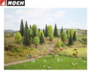 NOCH-26811-Mischwald-5-14-cm-hoch-25-Stueck-NEU-OVP