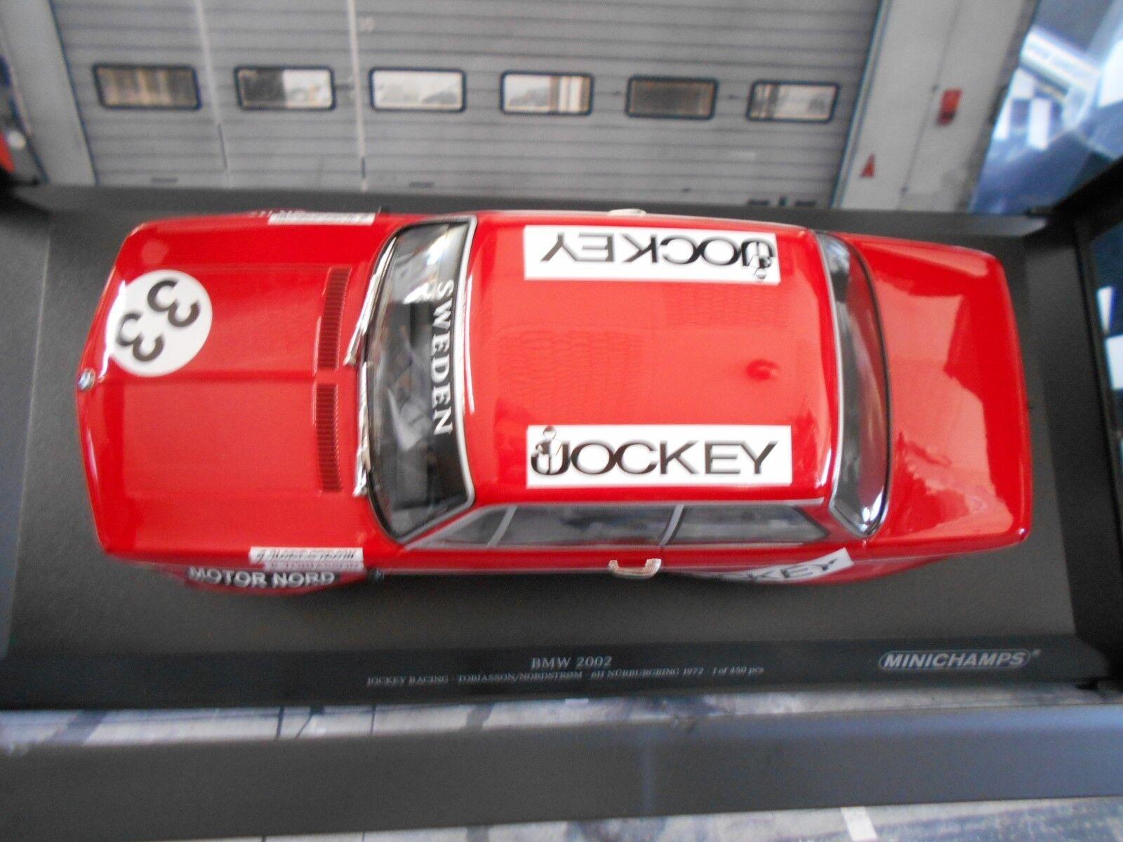 BMW 2002 Jockey Racing #33 Nurburgring tobiasson 1972 tobiasson Nurburgring Nordström MINICHAMPS 1:18 a3f831